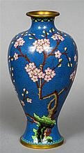 A Chinese cloisonne vase Of waisted bulbous form,