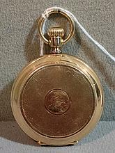 A 14 ct gold moonphase pocket watch The reverse wi