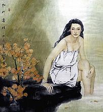 JAING CHAO (born 1958) Chinese Summer Watercolour