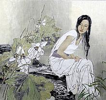 JAING CHAO (born 1958) Chinese Splendid Watercolou