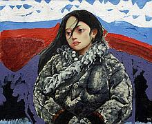 After CHEN YI FEI (1946-2005) Chinese Mongolian Gi