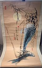 CHINESE SCHOOL (20th century) Gouache scroll paint