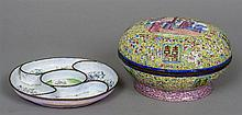 An 18th century Canton enamel food box Of domed fo