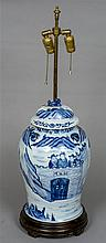 A large Chinese blue and white porcelain lidded va