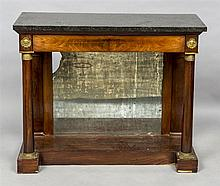 A 19th century Empire style marble topped console