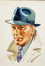 *AR HARRY RILEY (1895-1966) British Dapper Gent Wa