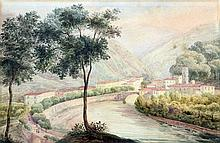 ITALIAN SCHOOL (19th century) Italianate River Lan