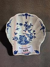 A mid 18th century Worcester blue and white pickle