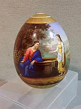 A finely painted 19th century Russian porcelain eg