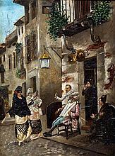 FRENCH SCHOOL (19th century) Gitinas Outside a Bar