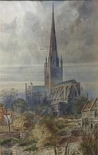 A. STONE (19th/20th century) British Norwich Cathe