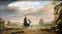 ENGLISH SCHOOL (19th century) Ships at Anchor Off