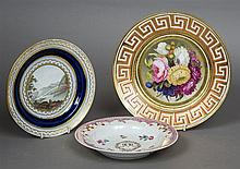 An early 19th century English porcelain plate Hand