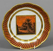 A late 18th century Derby plate Decorated with Etr