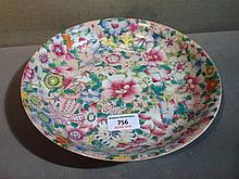 A Chinese porcelain dish The interior extensively