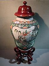 A pair of 19th century Chinese famille verte porce