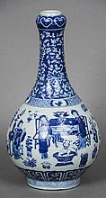 A Chinese blue and white porcelain bottle vase De