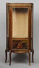 A Vernis Martin style vitrine Of bowed serpentine