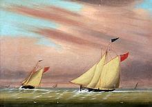 ENGLISH SCHOOL (19th century) East Coast Shipping