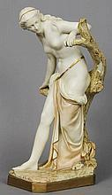 A large Royal Worcester figurine Modelled as a se