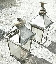 A pair of 19th century lantern tops With ornate t