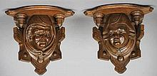 A pair of late 19th century Continental wall brac