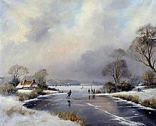 CONTINENTAL SCHOOL (20th century) Dutch Winter La