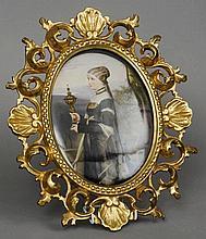 A 19th century KPM porcelain plaque Of oval form,