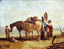 ENGLISH SCHOOL (19th century) Figures and Pack Ho