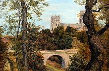 ENGLISH SCHOOL (19th/20th century) Durham Cathedr