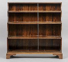 An early 20th century mahogany waterfall bookcase