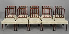 A set of eight 19th century mahogany dining chair