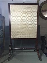 An early Victorian fire screen