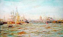 WILLIAM LIONEL WYLLIE (1851-1931)  St. Petersburg