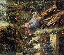 CONTINENTAL SCHOOL (19th century) Man on a Thatch