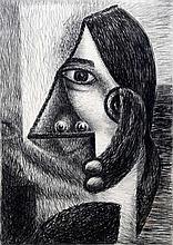 *AR T.M. JONES (20th century) British Abstract Po