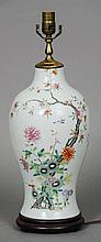 A Chinese porcelain table lamp Of ovoid vase form