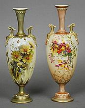 A Royal Worcester porcelain vase Floral painted b