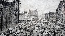 JULES DE BRUYCKER (1870-1945) Belgian Place Phara