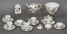 A quantity of 19th century Meissen porcelain tea