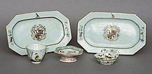 A pair of 18th century Chinese Export porcelain a