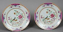 A pair of 18th/19th century Chinese famille rose