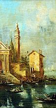ITALIAN SCHOOL (19th century) Venetian Scenes Oil