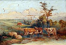 ENGLISH SCHOOL (19th century) Cattle Watering in