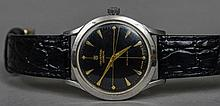 A Universal Stainless steel cased automatic gentleman's wristwatch The blac