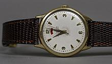 A Jaeger LeCoultre automatic gentleman's wristwatch The signed ivory dial w