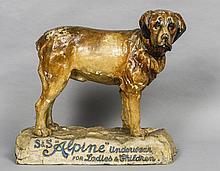 An early 20th century papier mache advertising figure Formed as a St. Berna