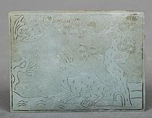An 18th century Chinese carved jade tablet Decorat