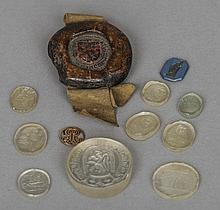 A collection of 18th and 19th century seals and in