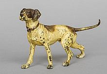 An Austrian cold painted bronze figure of a hound